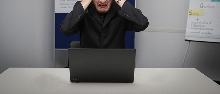 HP Renew Laptop in silver keyboard